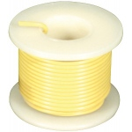 Elenco 22 AWG Solid Wire Spool: Yellow, 25 Foot