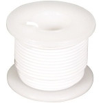 Elenco 22 AWG Solid Wire Spool: White, 25 Foot