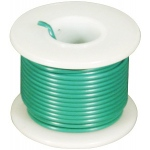 Elenco 24 AWG Stranded Wire Spool: Green, 25 Foot