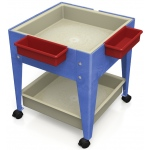 "ChildBrite Mites/Sensory Table: 24"" H Youth Mobile Mite with 2 Mega Tray, 4 Casters"