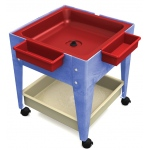 "ChildBrite Mites/Sensory Table: 24"" H Youth Mite with Red Tub & Mega-Tray"