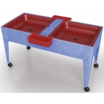 "ChildBrite Mites/Sensory Table: 24"" H Youth Double Mite with Red Tub"