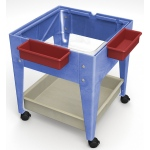 "ChildBrite Youth Clear-View Mobile Mite: 24"" H with Clear Tub"