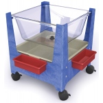 "ChildBrite See All Sand & Water Center: 24"" H, 4 Casters"