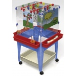 ChildBrite Youth 4 Station Space Saver Easel with 2 Mega-Tray