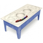 ChildBrite Toddler Table with Route Board & Red Ball Express Train