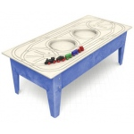ChildBrite Toddler Table with Route Board & Wabash Freight Train