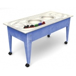 ChildBrite Youth Table with Route Board & Wabash Freight Train