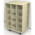 ChildBrite 20 Clear Tray Mobile Lite Wall Storage Center, Sandstone Granite