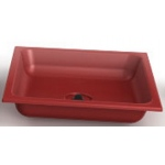ChildBrite Red Drip Pan with Drain and Plug