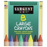 Sargent Art Crayons Jumbo 8 Count Tuck Box