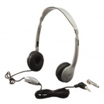 12-Pk Headphones W/ Volume Control Leatherette Ear Cushions