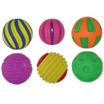 Get Ready Kids Plastic Toy: Tactile Squeak Balls, Set of 6