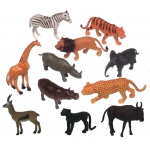Get Ready Kids Plastic Animal Play Set: Jungle Animals, 11 Pieces