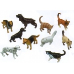 Get Ready Kids Plastic Animal Play Set: Pets, 10 Pieces