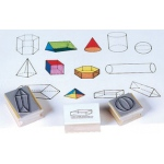 Center Enterprise Three Dimensional Geometric Stamp: Set of 13