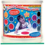 Center Enterprise Jumbo Circular Washable Paint/Ink Pad: Classroom Kit, 10 Color, 6""