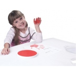 Center Enterprises Jumbo Circular Washable Paint/Ink Pad: Primary Kit, 4 Colors, 6""