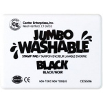 Center Enterprise Jumbo Washable Unscented Stamp Pad: Black