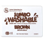 Center Enterprise Jumbo Washable Unscented Stamp Pad: Brown