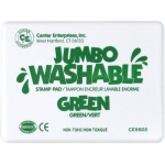 Center Enterprise Jumbo Washable Unscented Stamp Pad: Green
