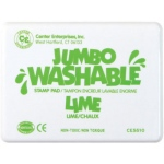 Center Enterprise Jumbo Washable Unscented Stamp Pad: Lime Green
