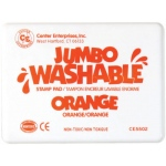 Center Enterprise Jumbo Washable Unscented Stamp Pad: Orange