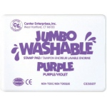 Center Enterprise Jumbo Washable Unscented Stamp Pad: Purple