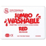 Center Enterprises Jumbo Washable Unscented Stamp Pad: Red
