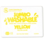 Center Enterprise Jumbo Washable Unscented Stamp Pad: Yellow