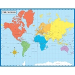 Map Of The World Laminated Chartlet 17x22