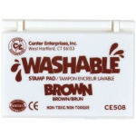 Center Enterprises Washable Stamp Pads: Brown