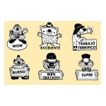 Center Enterprises Happy Clowns Grading Stamp Set: Spanish