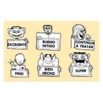 Center Enterprises Monsters Grading Stamp Set: Spanish