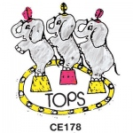 Center Enterprises Elephants Stamp: Tops
