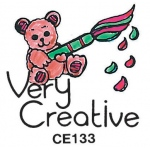 Center Enterprises Bear And Brush Stamp: Very Creative