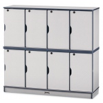 "Jonti-Craft 46"" High Stacking Lockable Locker:  Black, Double Stack"