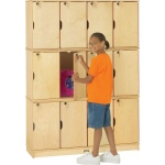 Jonti-Craft Thriftykydz Stacking Lockable Lockers: Triple Stack