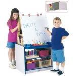 Jonti-Craft 2 Station Easel: Red