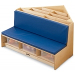 Jonti-Craft Corner Literacy Nook: Blue
