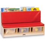 Jonti-Craft Corner Literacy Nook: Red