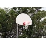 "SportsPlay 3.5"" Adjustable Backstop with Fiberglass Fan - Basketball Backboard Equipment"