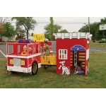 SportsPlay Tot Town Fire Engine House Combo - Contained Play Structures