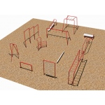 Sportsplay 12 Fitness Course: Galvanized - Playground Equipment