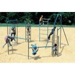 "SportsPlayCorral ""The Mini-Course"": Galvanized - Playground Fitness Equipment"