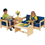 Jonti-Craft Thriftykydz Living Room: Blue, Set of 4 Pieces
