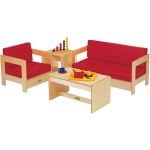 "Jonti-Craft Living Room Set: Red Couch, 37 1/2"" W x 20"" D x 20"" H"