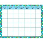 Dots On Turquoise Calendar Chart