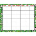 Monkey Mischief Wipe-Off Monthly Calendar Grid