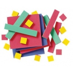 Didax Algebra Tiles, Plastic, Single Set: Grade 3-12